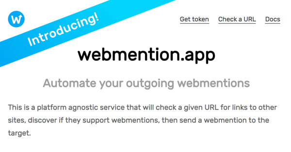 Automate your outgoing webmentions